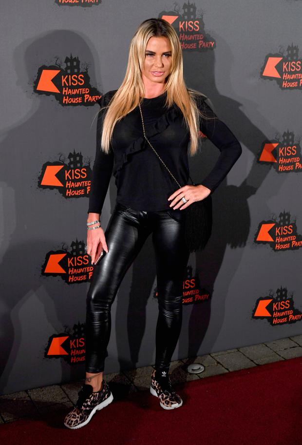 Katie Price attends the Kiss FM Haunted House Party at SSE Arena on October 27, 2016 in London, England. (Photo by Ian Gavan/Getty Images)