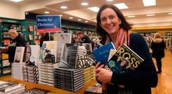 Susan Walsh of Dubray Books with some titles for sale at Christmas. Photo: Caroline Quinn