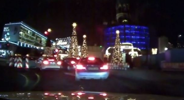 Dashcam footage shows the moment truck ploughs into Christmas market in Berlin