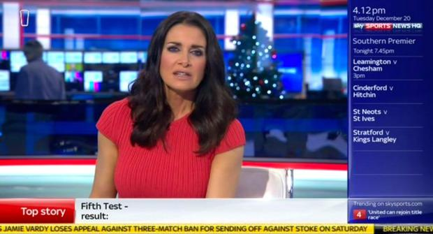 Kirsty Gallacher on Sky News Sports
