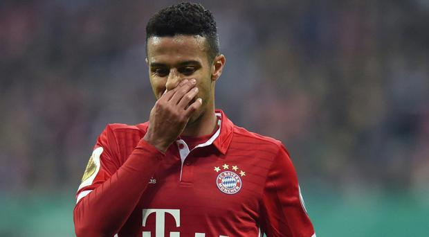 Thiago had a moment to forget during the win over Leipzig. Getty