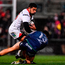 Charles Piutau of Ulster is tackled by Rory Parata of Connacht
