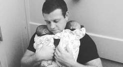 Rugby star Cronin welcomes twin boys
