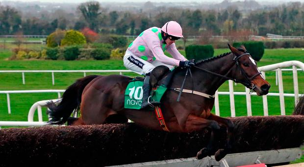 Min, winning on his chase debut at Navan under Ruby Walsh, will be a big draw to Leopardstown on Monday. Photo: PA