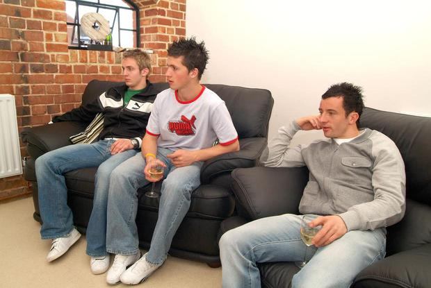 Stephen Hunt relaxing with his then Irish and Reading teammates Kevin Doyle and Shane Long
