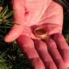 The wedding ring belonging to David Penner lost on a Christmas tree farm 15 years ago. Picture: NJ.com/YouTube