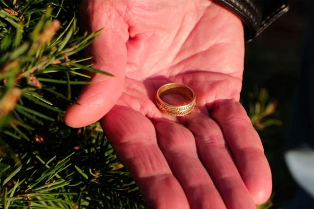 Widower is reunited with lost wedding ring lost 15 years ago weeks