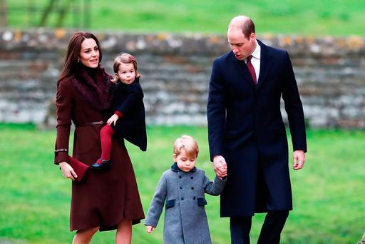 The Cambridge family attend Christmas Day Church service in Berkshire
