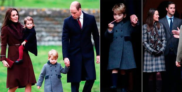 A Christmas Princess.Prince George And Princess Charlotte Dress In Their
