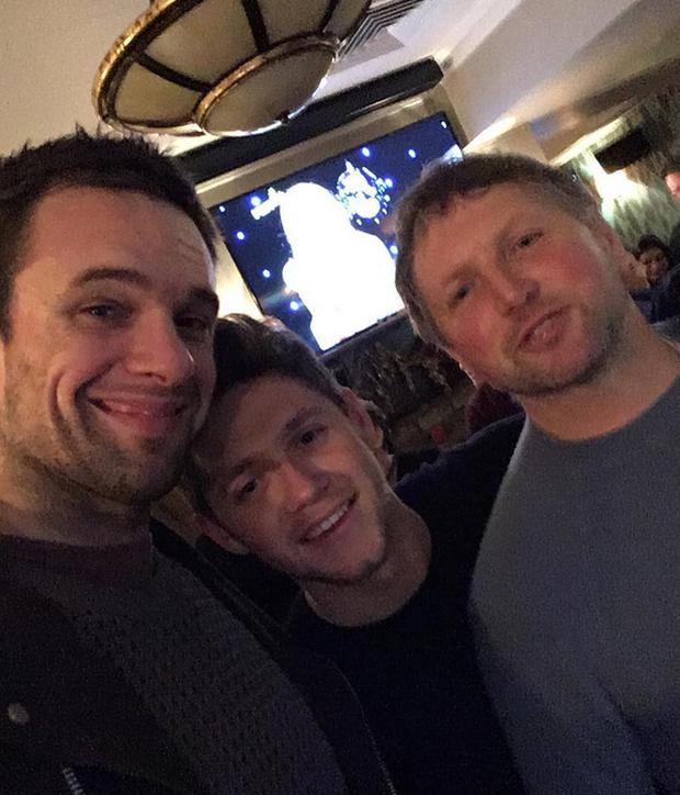 Bressie and Niall Horan in Mullingar at Christmas