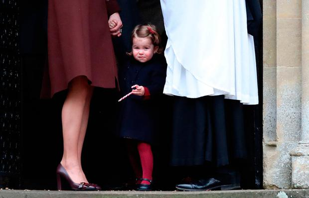 The Duchess of Cambridge and Princess Charlotte in December