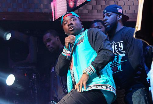 Troy Ave performs onstage in 2015 (Photo by Bennett Raglin/Getty Images for Coors Light)