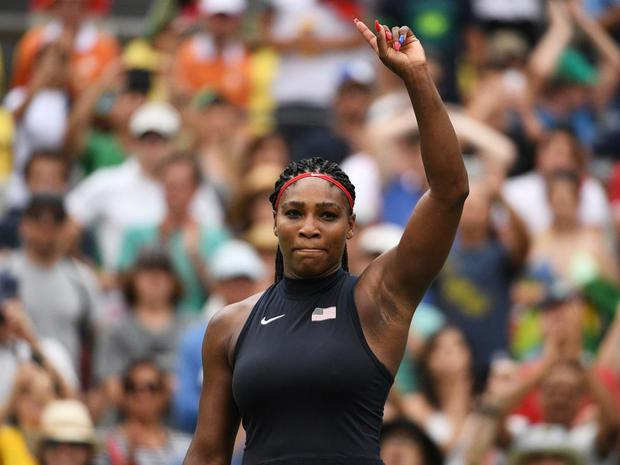 Serena Williams is 20 weeks pregnant. Pic: Getty