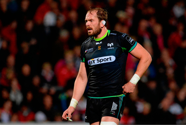 Spearheaded by prospective Lions skipper Alun Wyn Jones, Ospreys outmuscled their visitors up front. Photo by Oliver McVeigh/Sportsfile