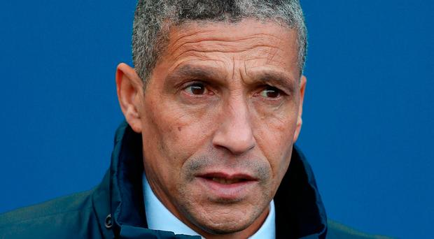 """""""We're delighted with what we've done but I think we all know that the second half of the season certainly won't be any easier,"""" said Hughton. Photo: PA"""