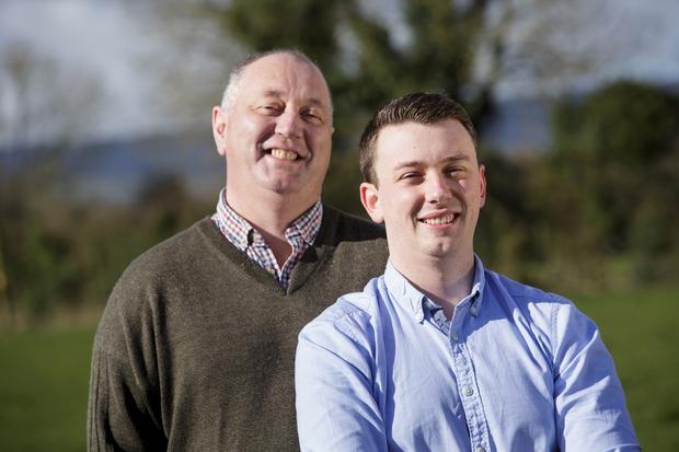 Liam Martin, who received a kidney from son Darren (right), is enjoying a new lease of life