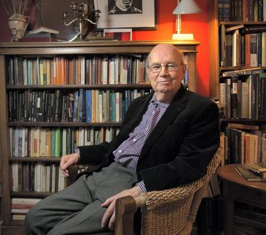 Author and poet Anthony Cronin at home in Ranelagh. Photo: Tony Gavin 27/11/14