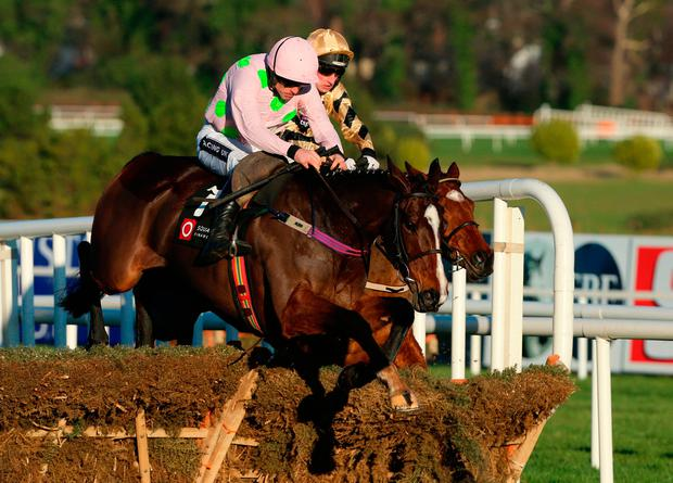 Vroum Vroum Mag, ridden Ruby Walsh, goes on to win The Squared Financial Christmas Hurdle during day three of the Christmas Festival at Leopardstown