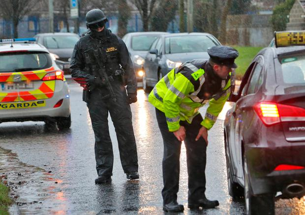 Interventions by armed members of the Garda Drugs and Organised Crime Bureau have prevented a spate of fresh attacks by gunmen linked to the Kinahan crime cartel since David Byrne was shot dead last February. Photo: Collins