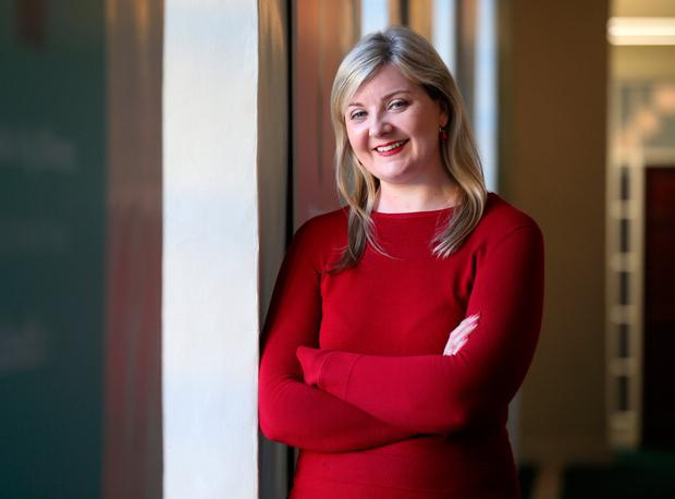 Nurse Maeve O'Connell from Cork at the event. Photo: Frank McGrath