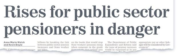 How the Irish Independent broke news of the pensions issue