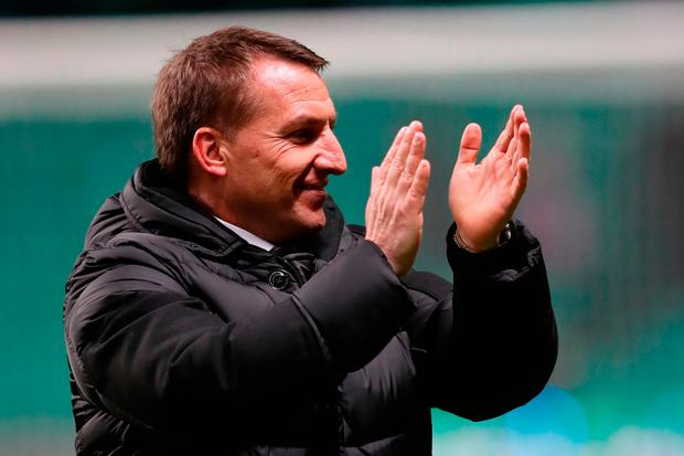 Celtic manager Brendan Rodgers after the final whistle