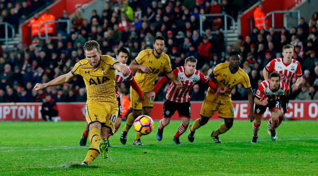 Tottenham's Harry Kane misses a penalty
