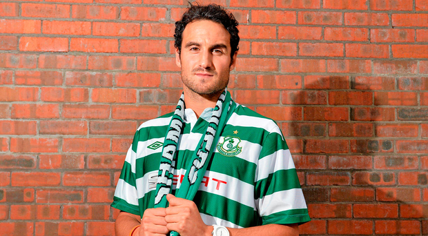 Eamon Zayed, pictured during his Shamrock Rovers days, brought his shooting boots to the USA, where he impressed this year with Indy Eleven Picture: Sportsfile