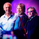 Actors Harrison Ford, Mark Hamill and Carrie Fisher at a Star Wars concert in San Diego, California, in 2015 Picture: Getty