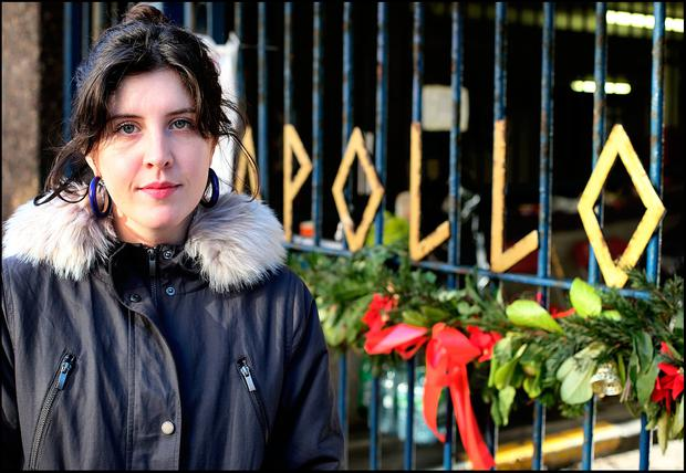 Volunteer Rosi Leonard outside Apollo House Picture: Steve Humphreys