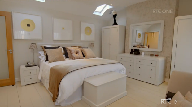 Norah Casey's master bedroom. She was crowned the winner of RTE's Celebrity Home of the Year