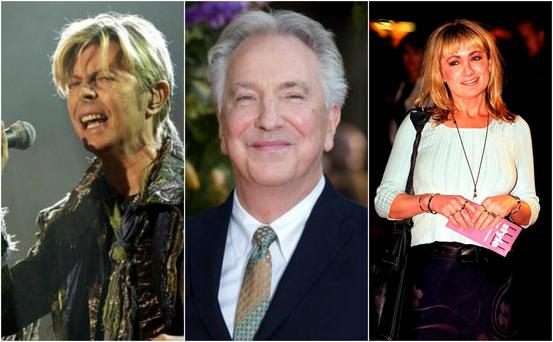 David Bowie, Alan Rickman and Caroline Aherne are some of the high-profile celebrities who passed away in 2016