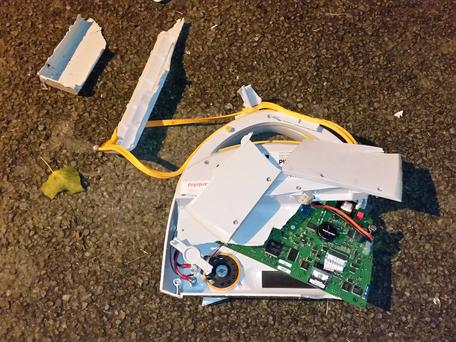 Thre youths destroyed a defibrillator in Arklow Photo via Facebook/ Arklow Community First Responders