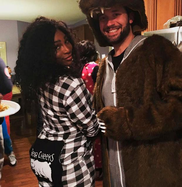 Serena Williams and her fiance Alexis Ohanian at a fancy dress party