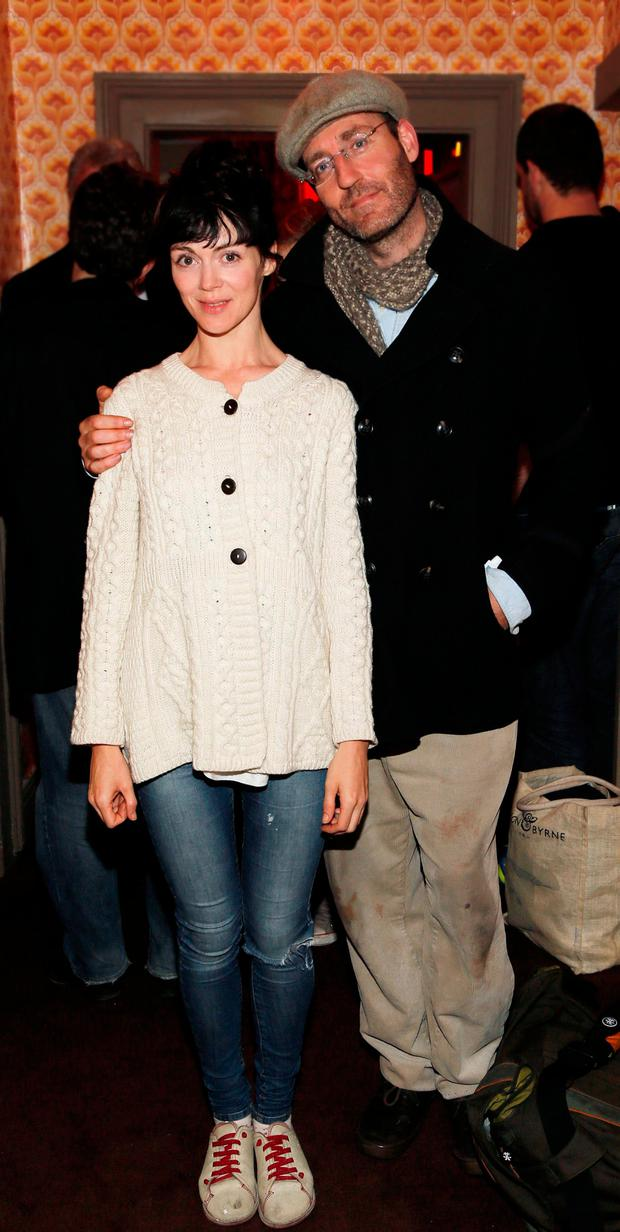Fiona O'Shaughnessy and comedan Dave McSavage together in 2012