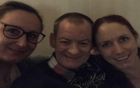 Jimmy Fraser spent Christmas in Sweden with Annis Lindkvist and her family CREDIT: PROVIDED