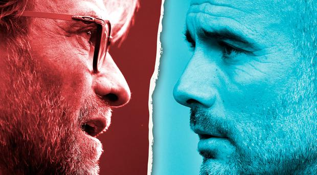 Liverpool boss Jurgen Klopp and Man City manager Pep Guardiola face a battle to keep their season on track