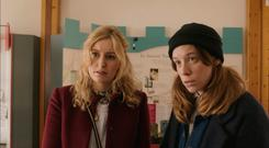 Laura Carmichael and Chloe Pirrie in Burn Burn Burn