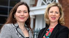 SFA Director Patricia Callan, with chairwoman Sue O'Neill (right), who has called for UK-style marginal tax regime