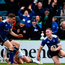 Rory O'Loughlin is congratulated by his Leinster team-mate Garry Ringrose