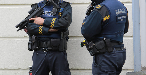 Armed garda. (Stock picture)