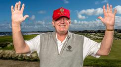 Donald Trump pictured at Doonbeg in west Clare. Photo: Kip Carroll