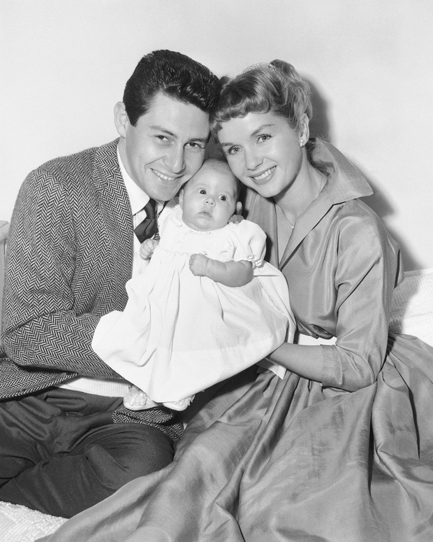 Carrie as a baby with proud parents (AP)