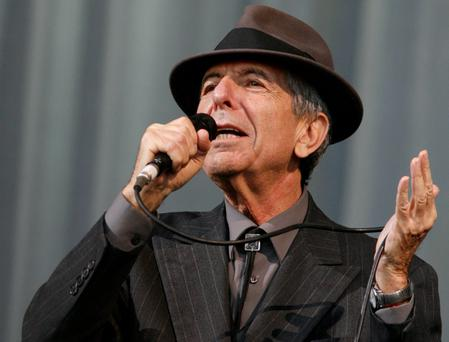 Leonard Cohen performing at Glastonbury in 2008. Photo: Reuters