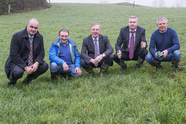 Bill Callanan, DAFM, Dairy Farmer Michael Crowley, Skibbereen, Michael Creed, Minister for Agriculture, Food & the Marine, Niall Ryan, DAFM & Beef Farmer Ger Dineen, Kilnamartyra, Macroom.