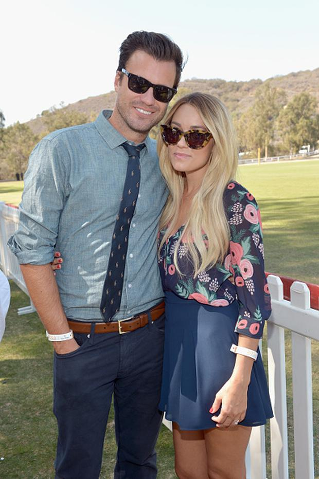 William Tell and Lauren Conrad attend the Fifth-Annual Veuve Clicquot Polo Classic at Will Rogers State Historic Park on October 11, 2014 in Pacific Palisades, California. (Photo by Charley Gallay/Getty Images for Veuve Clicquot)
