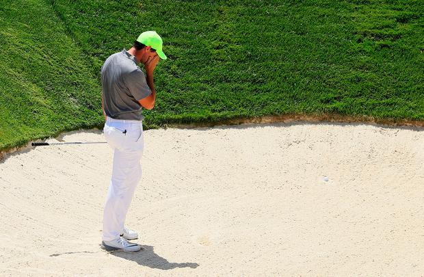 Rory McIlroy who missed the cut at Oakmont. Photo by Andrew Redington/Getty Images