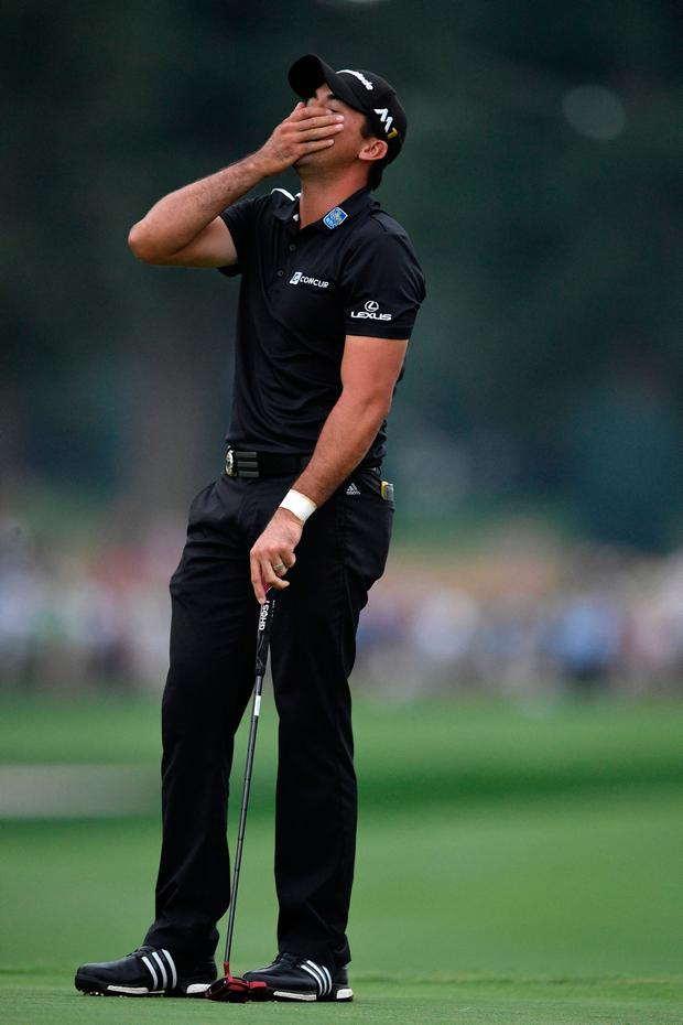 Jason Day whose late run came up short at Baltusrol. Photo by Stuart Franklin/Getty Images