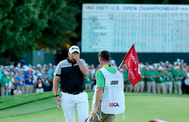 Shane Lowry came up short in his bid for a first Major title. Photo by David Cannon/Getty Images