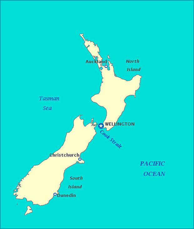 O'Coineen is 200 miles south-east of Dunedin in New Zealand